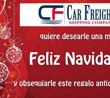 Feliz Navidad de Car Freight Shipping